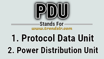 Full Form of PDU