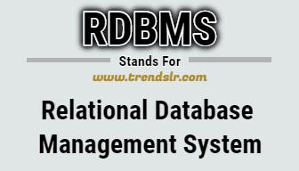 Full Form of RDBMS