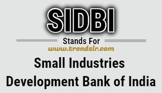 Full Form of SIDBI