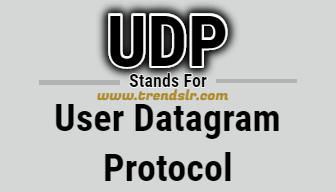 Full Form of UDP