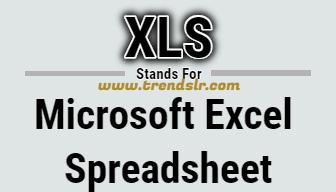 Full Form of XLS