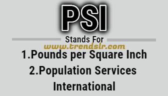 Full Form of PSI