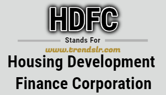 Full Form of HDFC
