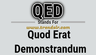 Full Form of QED