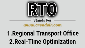 Full Form of RTO
