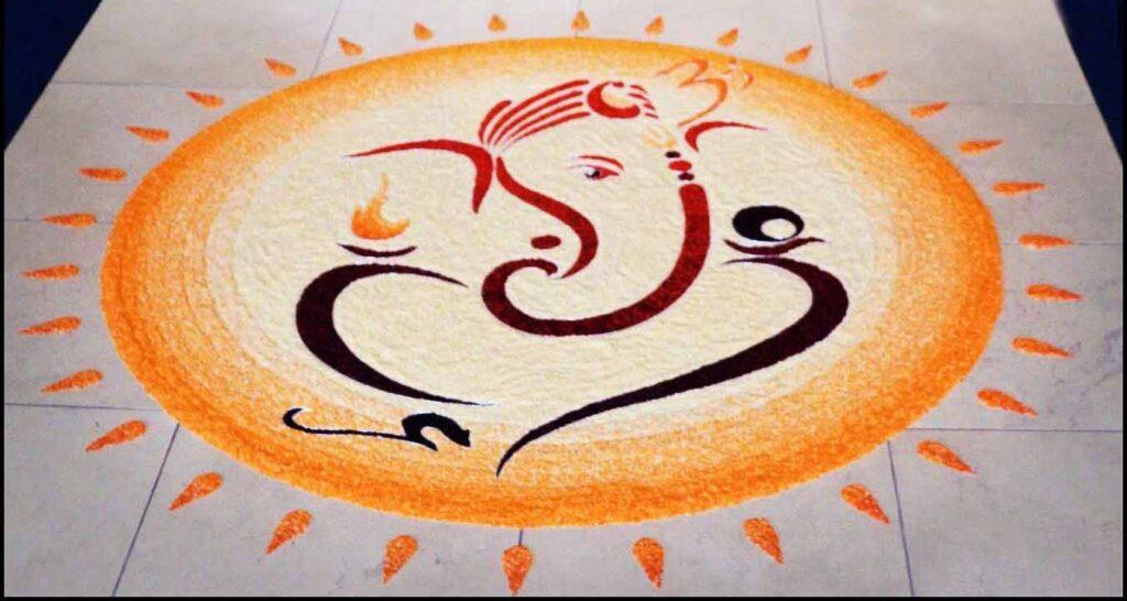 Ganesha Diwali Rangoli